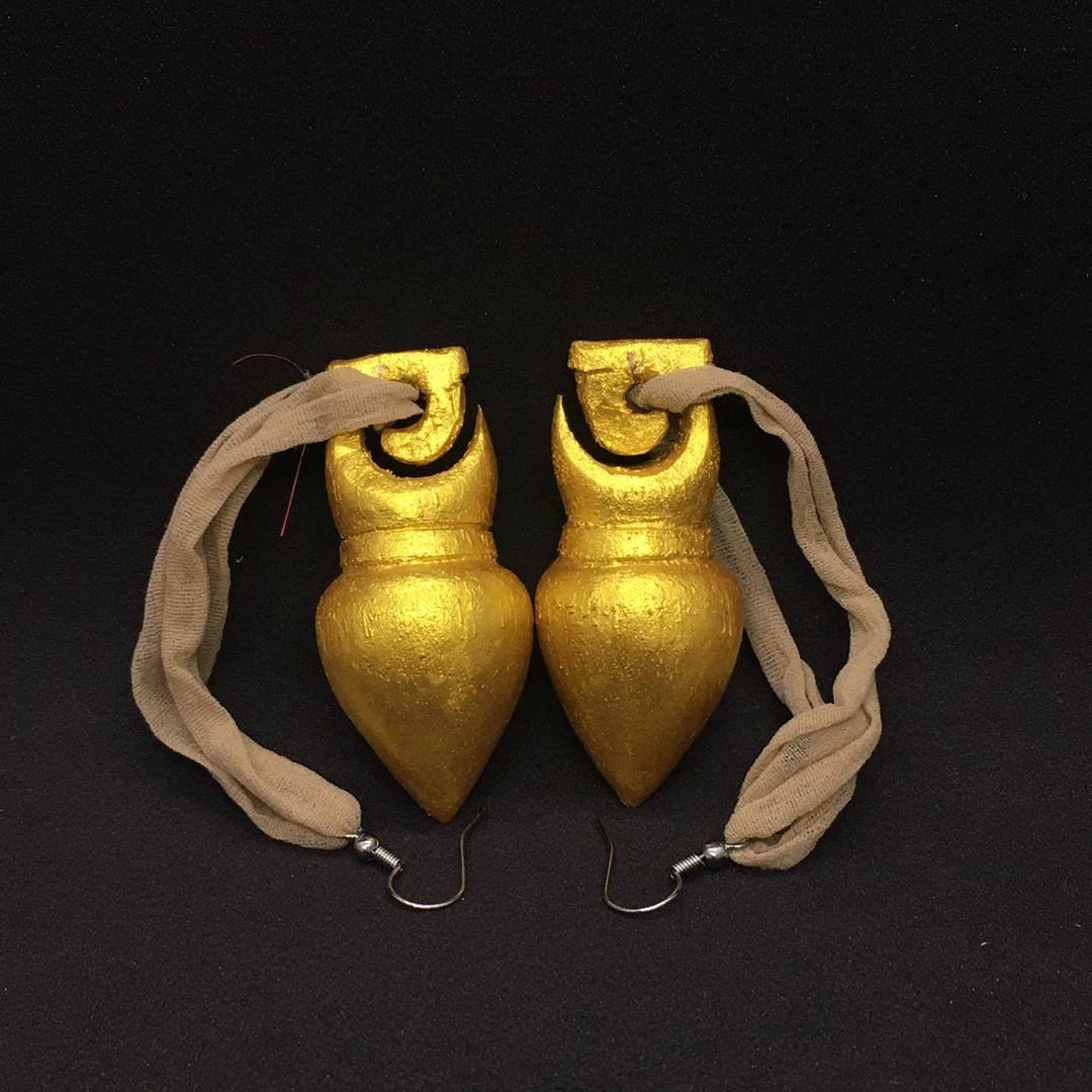 Bituk (Earring Orang Ulu-wood)