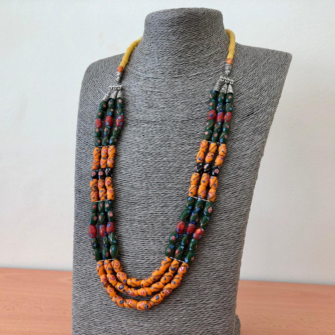 3 layer Borneo Glass Beads