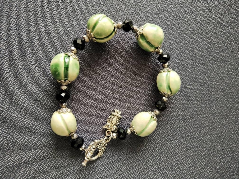 Unique Handmade Ceramic Bracelet