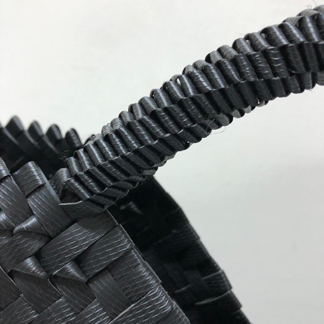 handwoven penan basket(black)