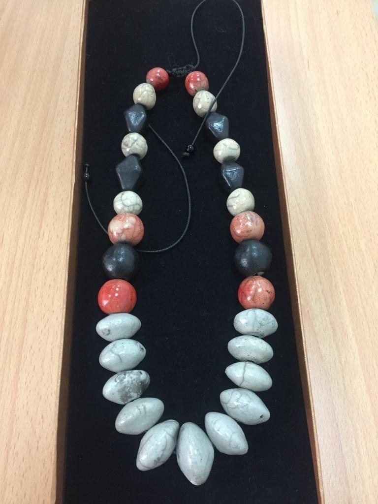 Terra Terracotta ceramic Necklace