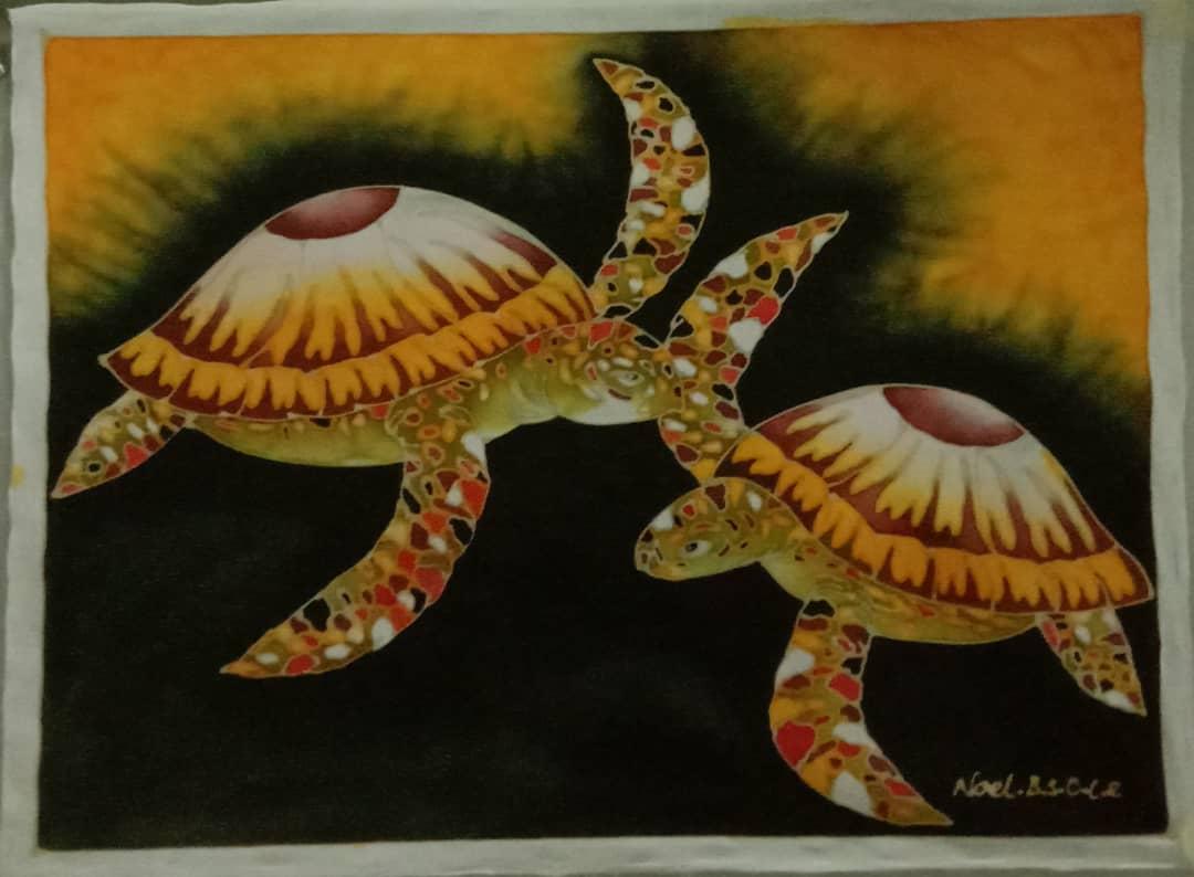 Turtle Silk Painting