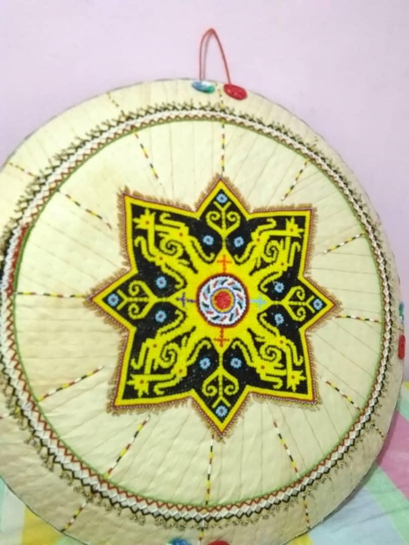 Topi Dayak Kenyah (Borneo Hat) Sa'ung