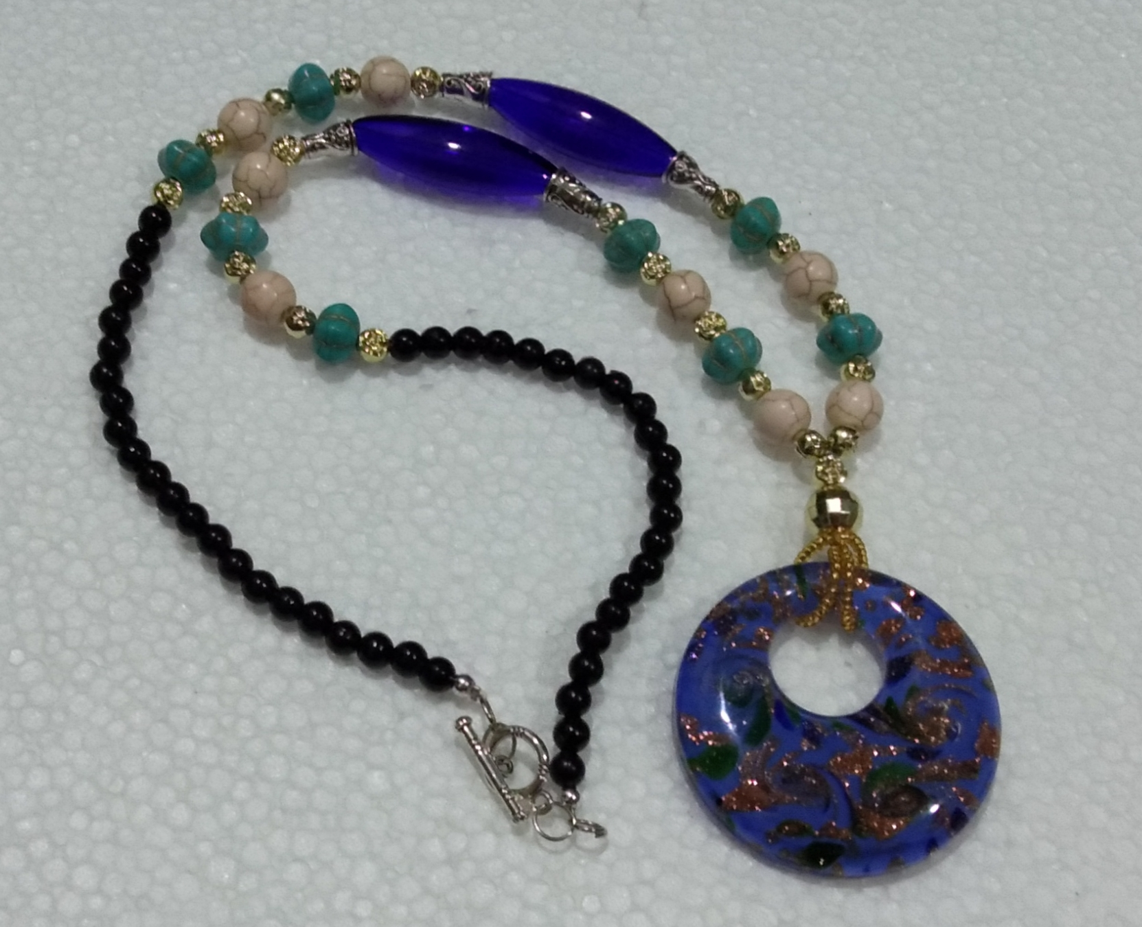 Pendant Necklace (Blue)
