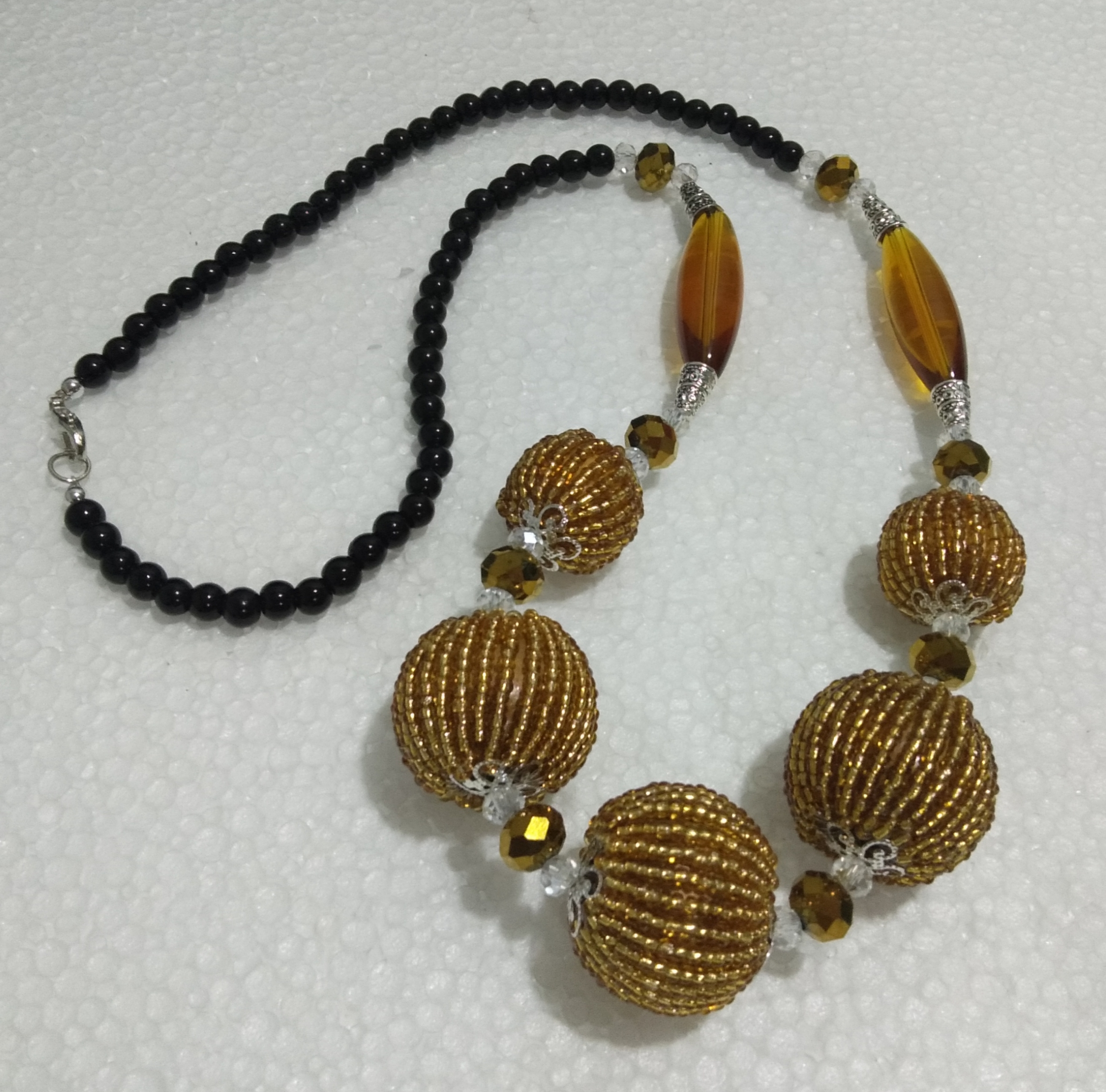 Beads Ball Necklace(Gold)