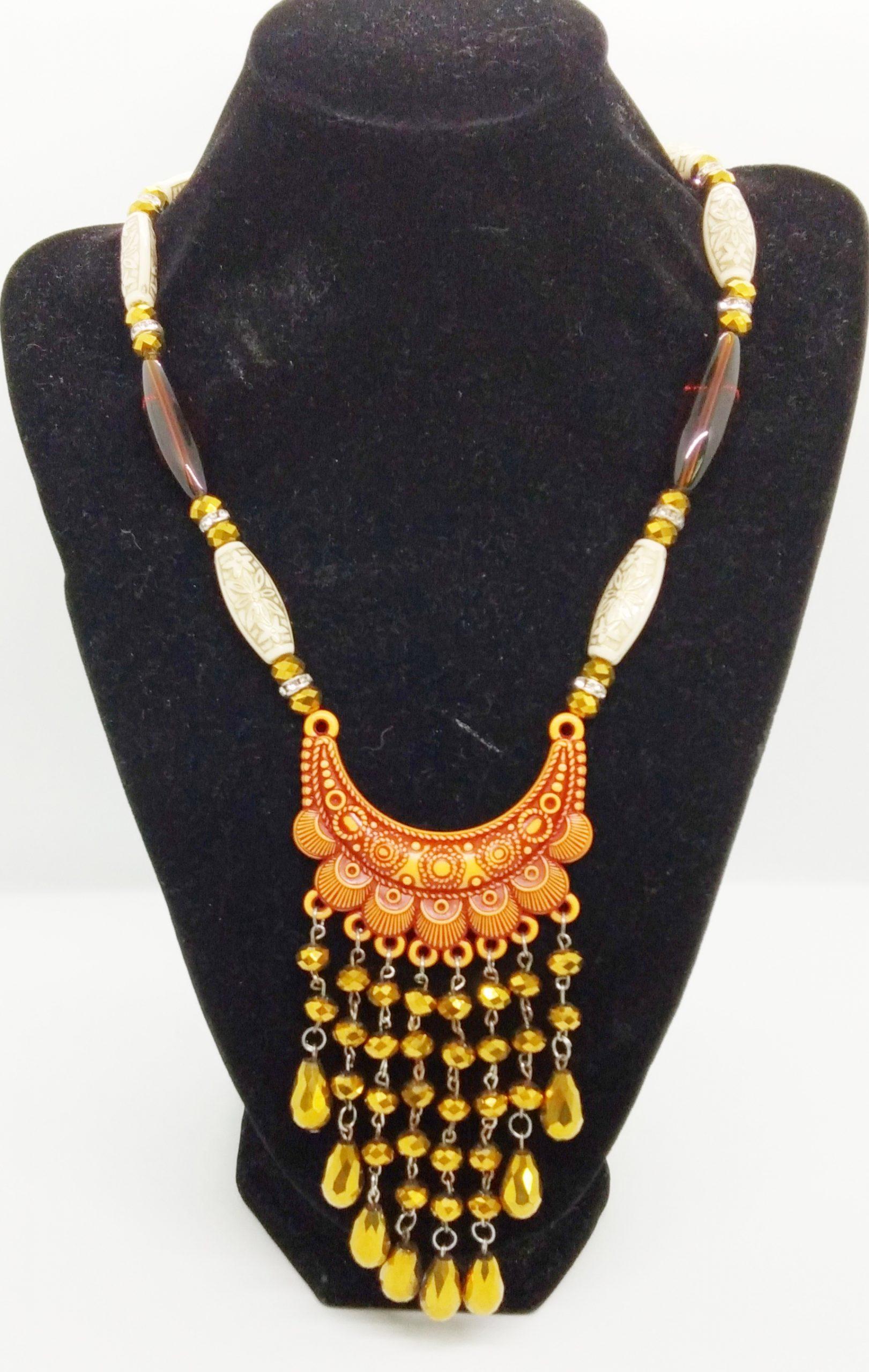 Antique Pendant Necklace(Gold)