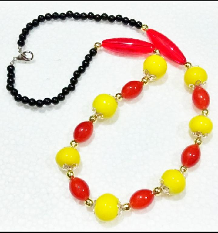 Ceramic Necklace(Yellow)