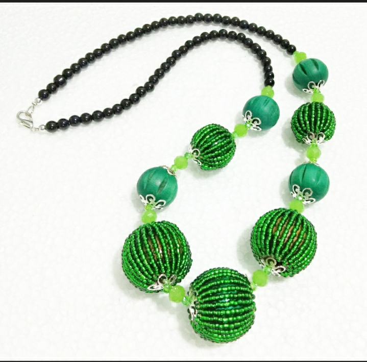 Beads Ball Necklace(Green)