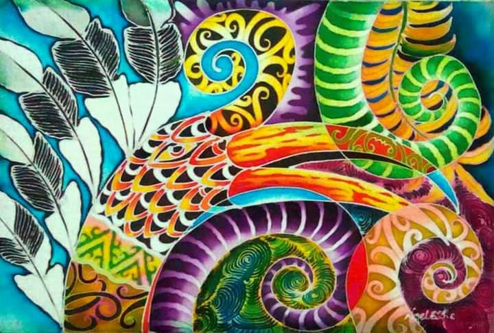 The Dream of the Hornbill I - Batik Painting