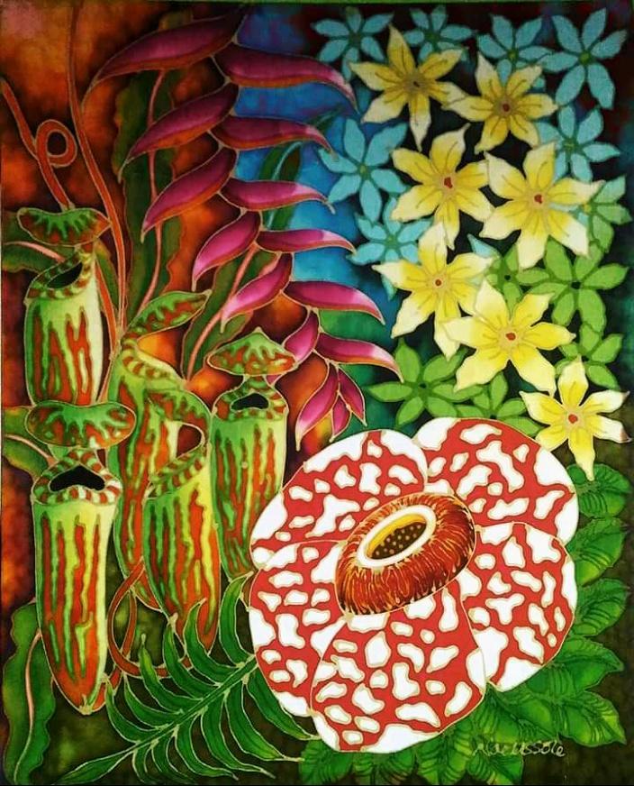 Flora Paradise - Batik Painting