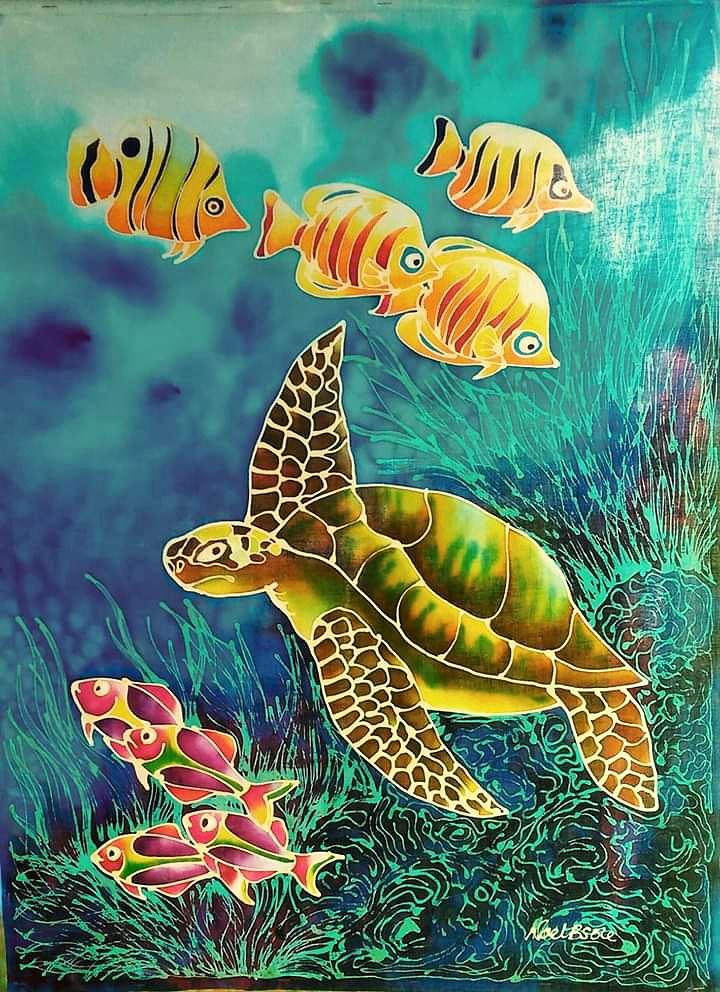 Underwater - Batik Painting