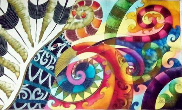 Dream Of The Hornbill II - Batik Painting
