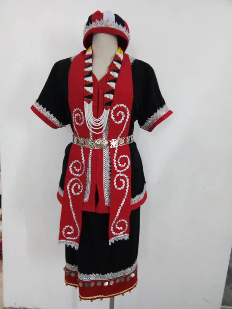 Bidayuh costume full set of 7 with real coin and bell