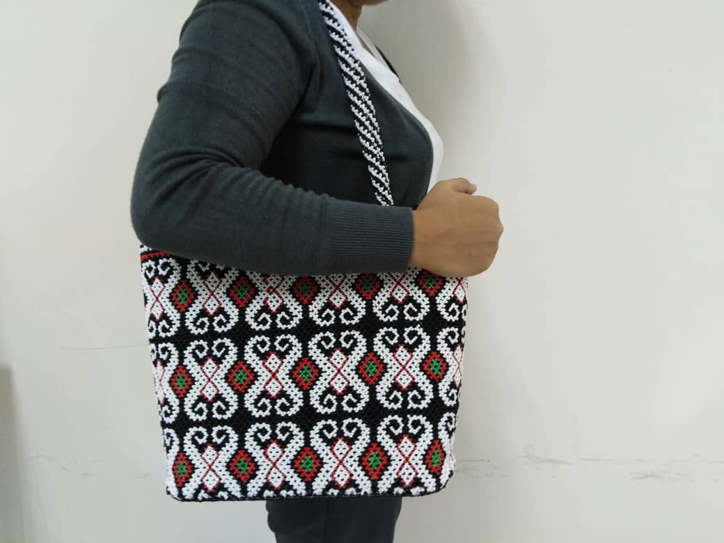 Borneo Bead Tote Shoulder Handbag