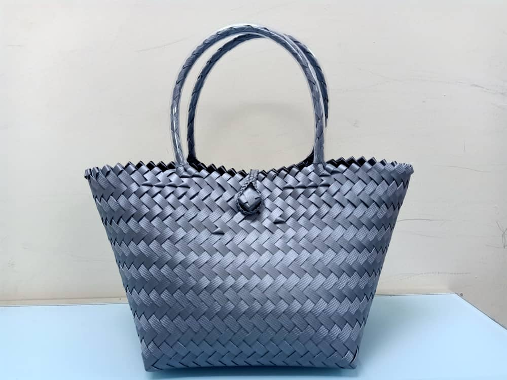 Handwoven penan basket-Small( grey)